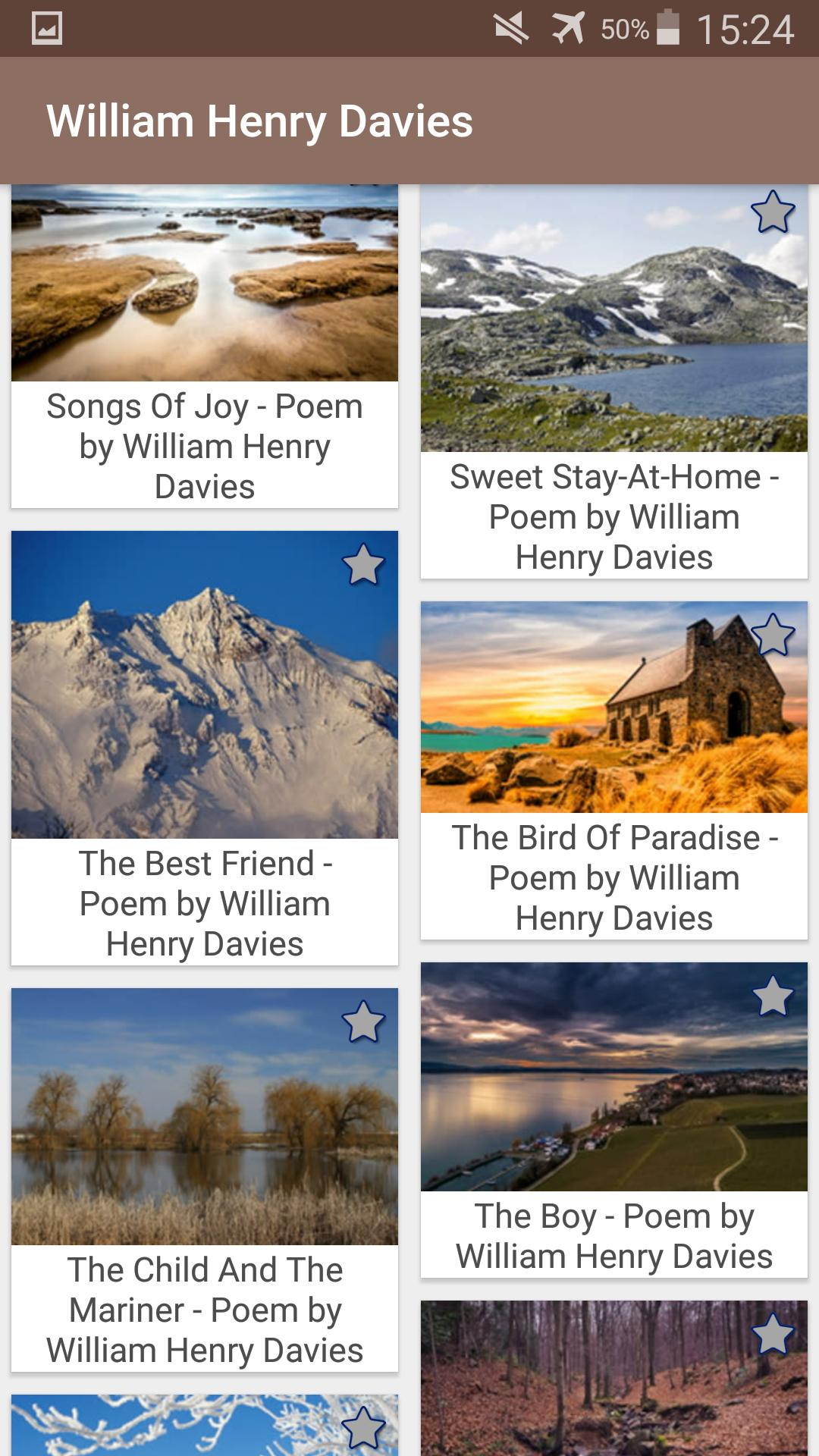 William Henry Davies ( W  H  Davies ) Poems for Android