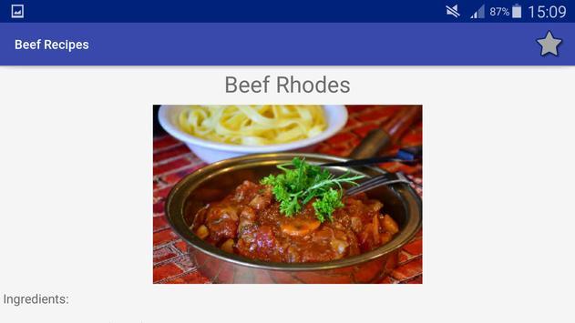 Beef and Hamburgers Recipes screenshot 18