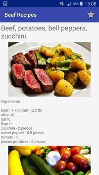 Beef and Hamburgers Recipes screenshot 7