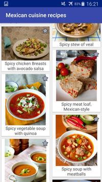 Mexican Cuisine Recipes screenshot 2