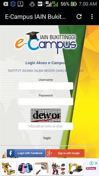 E-Campus IAIN Bukit Tinggi screenshot 1