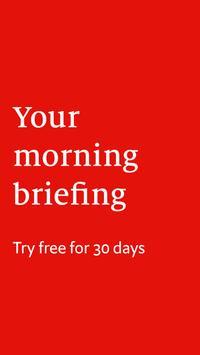 Economist Espresso. A morning news briefing poster