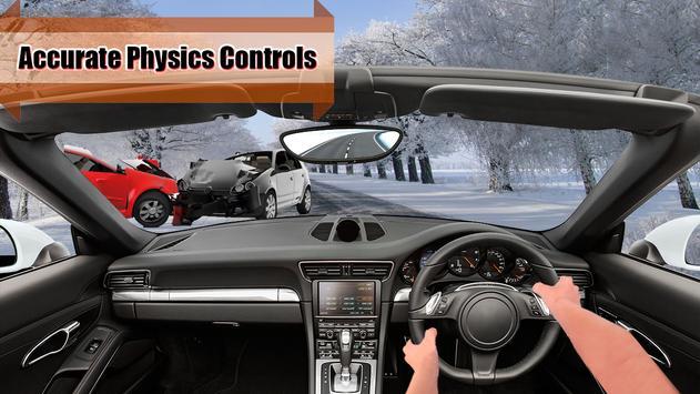 Racing Car in Heavy Traffic Simulator poster