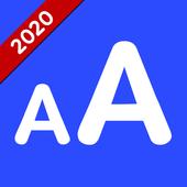 Tipo de letra grande - Cambiar tamaño de fuente icono