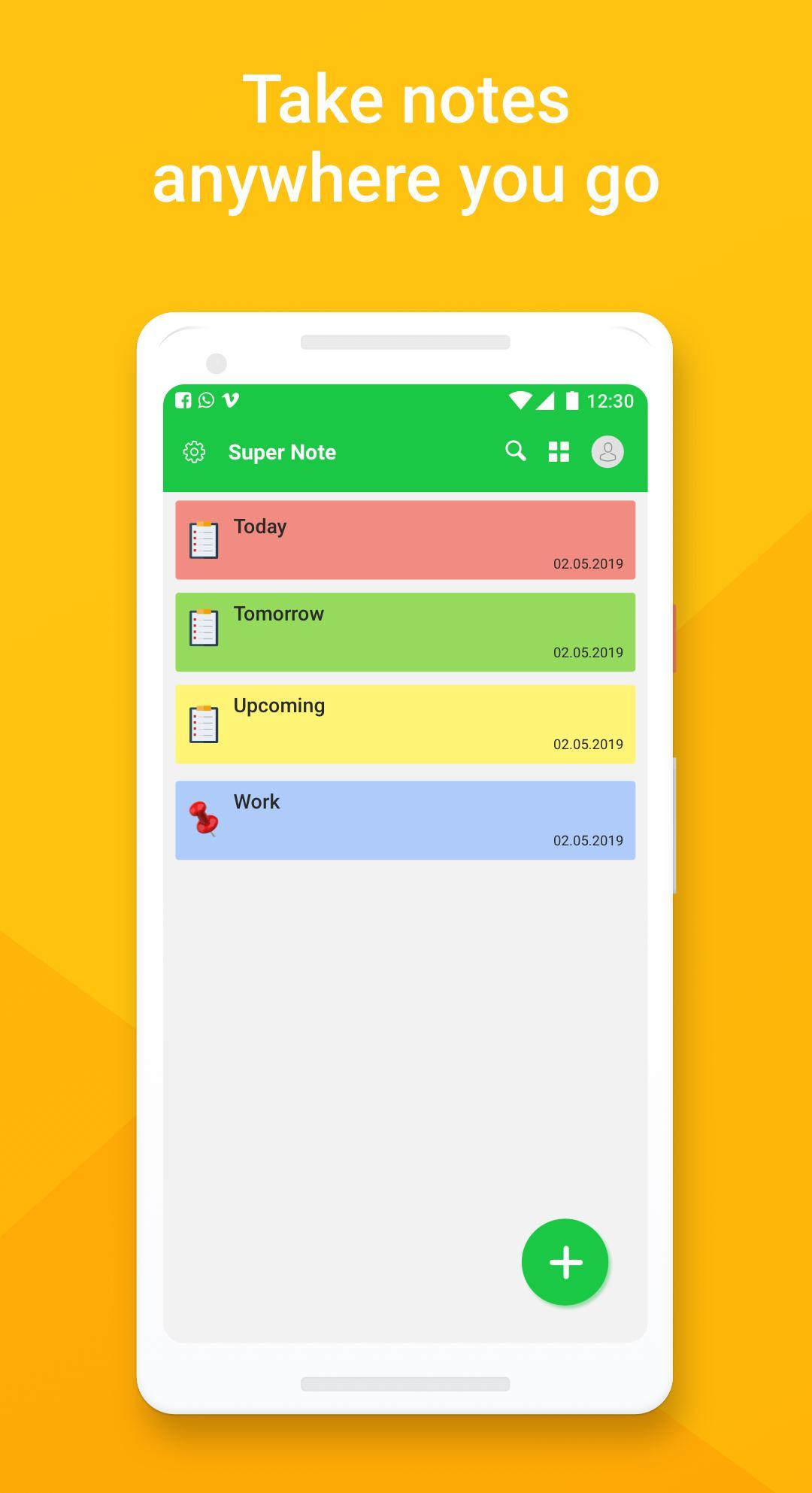 Notepad - Note app reminder, Sticky notes widget for Android