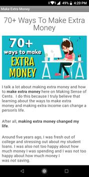 65 Ways To Make Extra Money poster