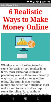 5 Realistic Ways to Make Money Online poster
