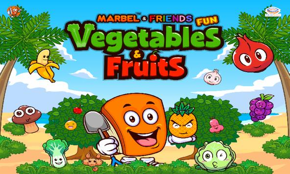 Marbel Fun Vegetable and Fruits poster