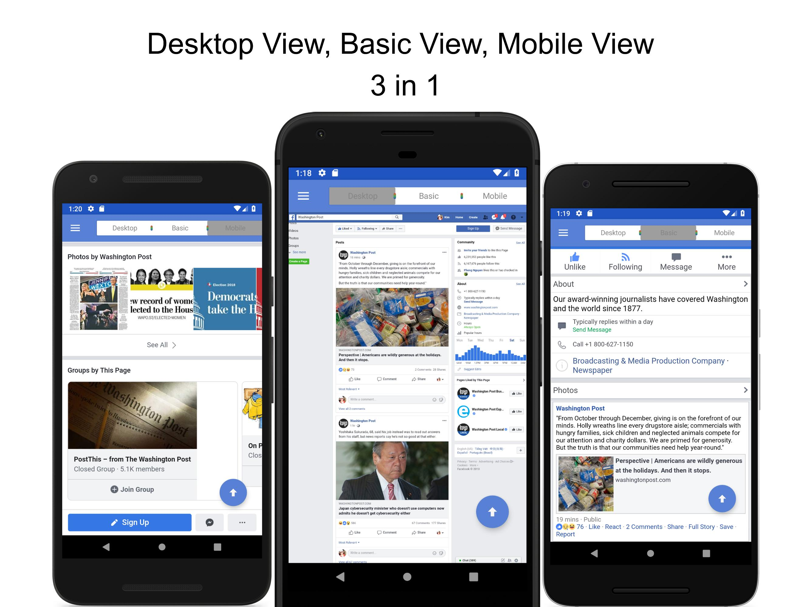 Desktop View for Facebook - Lock Screen for Android - APK