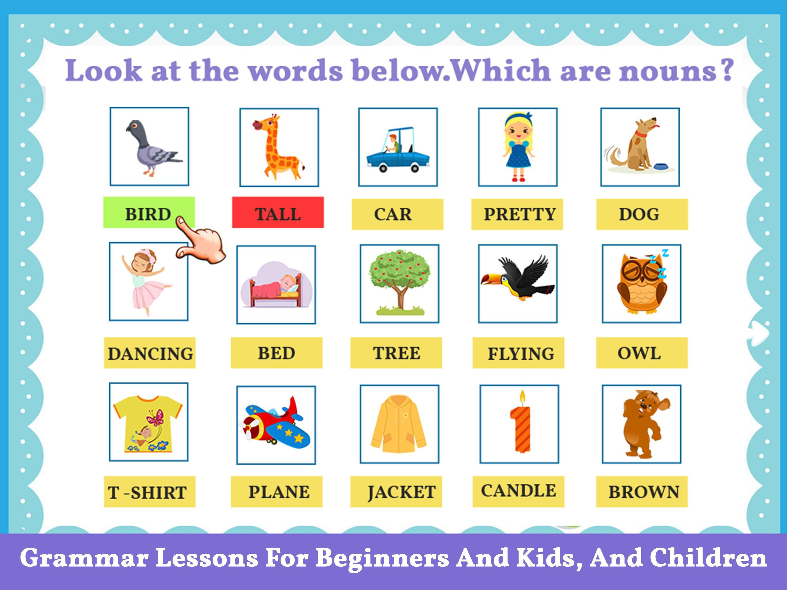 English Grammar and Vocabulary for Kids for Android - APK ...