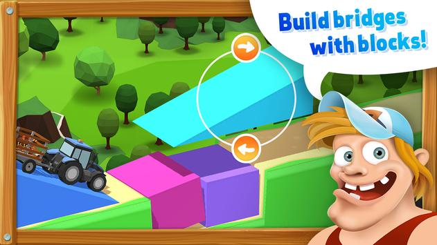 BlockVille Bridge builder Physics puzzle poster