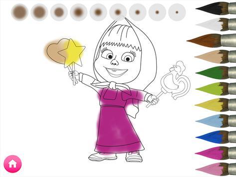 Masha e o Urso. Jogos Educativos imagem de tela 3