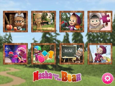 Masha y el oso - Juegos educativos Poster