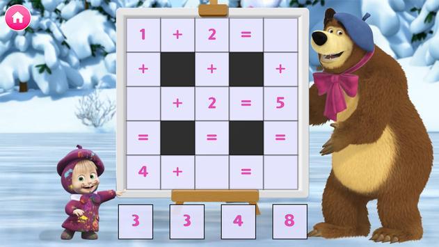 Masha e o Urso. Jogos Educativos imagem de tela 14