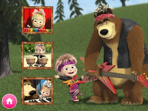 Masha y el oso - Juegos educativos captura de pantalla 1