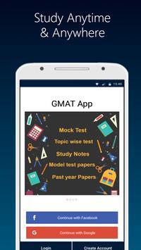 GMAT 2021 prep App-Aptitude Verbal Mock Test Paper Plakat