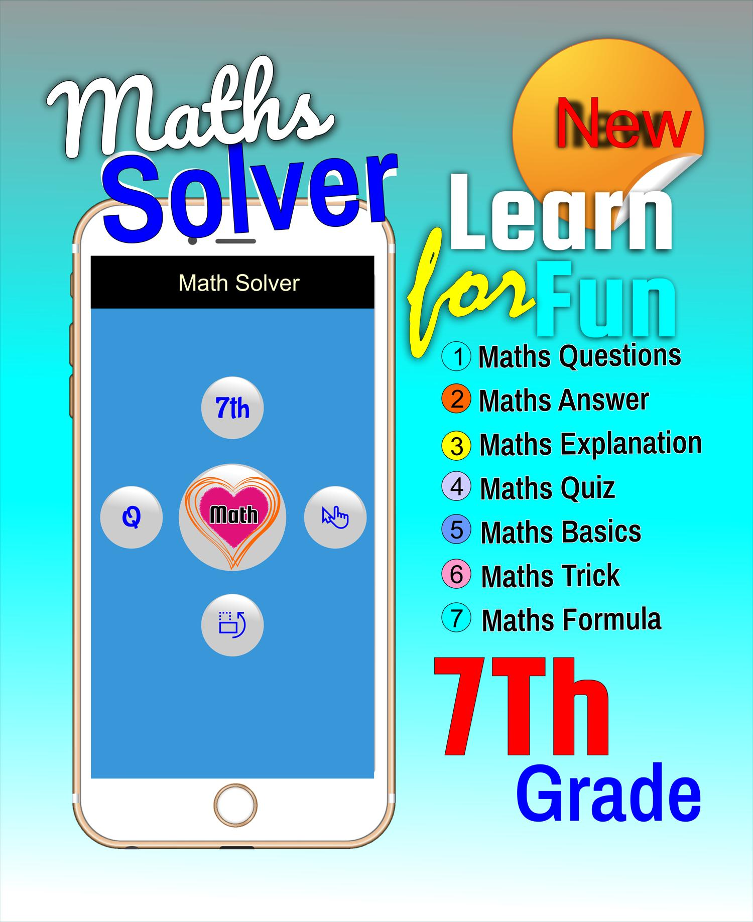 7th Grade Math Solve: Trick and Formula Math for Android