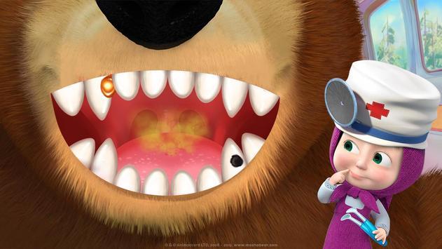 Masha and the Bear: Free Dentist Games for Kids screenshot 3