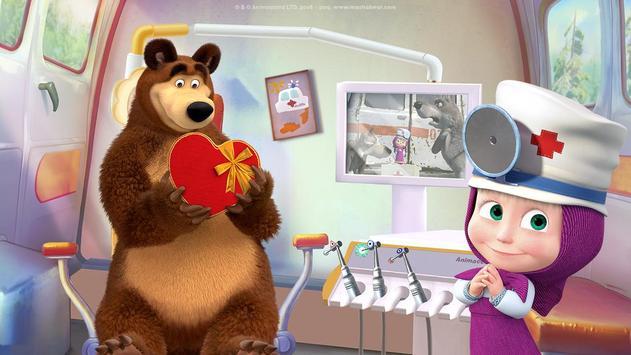 Masha and the Bear: Free Dentist Games for Kids screenshot 1