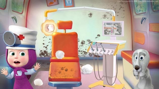 Masha and the Bear: Free Dentist Games for Kids screenshot 4