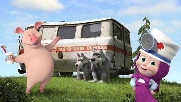 Masha and the Bear: Free Dentist Games for Kids screenshot 5