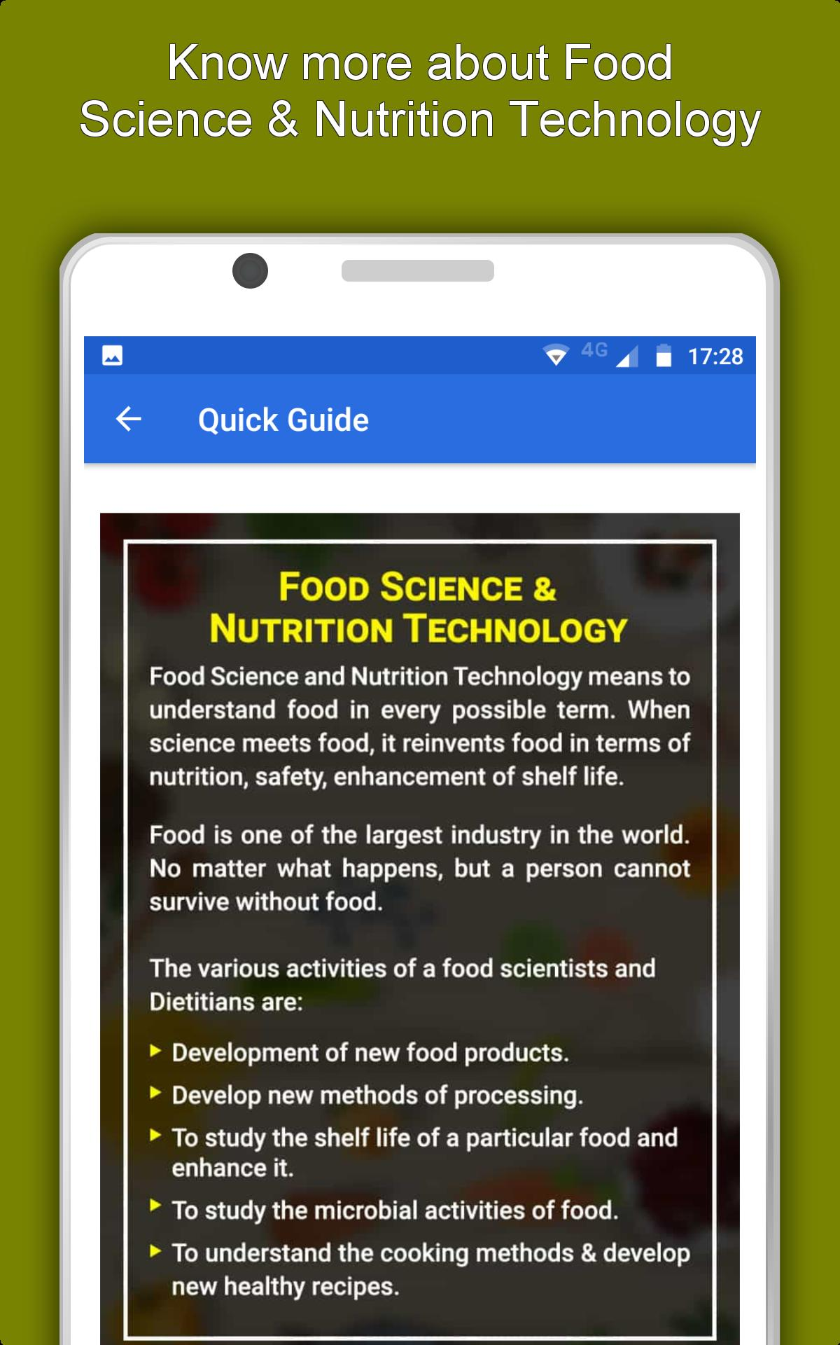 Food Science & Nutrition Technology - Food Tech for Android - APK