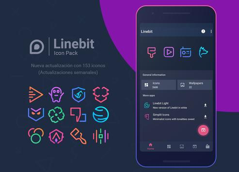 Linebit - Icon Pack Poster