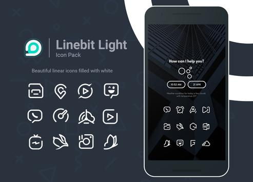 Linebit Light - Icon Pack poster