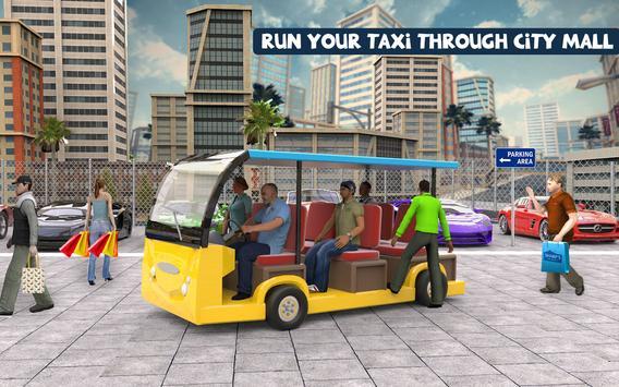 Shopping Mall Radio Taxi Driving: Supermarket Game screenshot 3