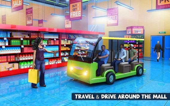 Shopping Mall Radio Taxi Driving: Supermarket Game screenshot 7