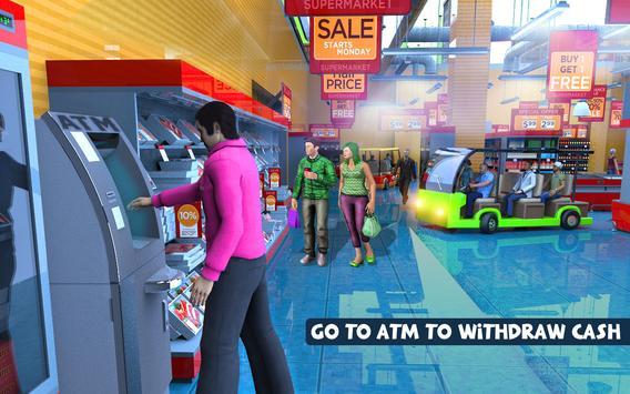 Shopping Mall Radio Taxi Driving: Supermarket Game screenshot 4