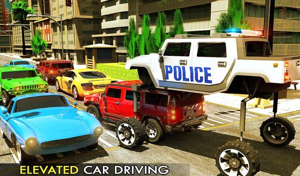 Elevated Police Smart Car Driving: Traffic Rush poster