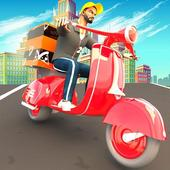 Pizza Delivery Boy: City Bike Driving Games icon