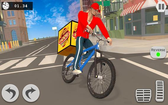 Pizza Delivery Boy: City Bike Driving Games screenshot 2