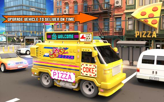 Pizza Delivery Boy: City Bike Driving Games screenshot 4
