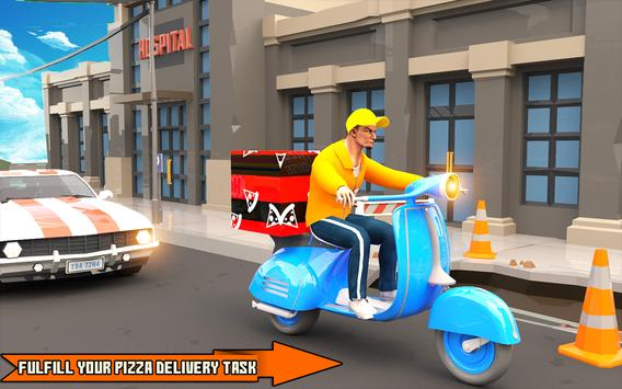 Pizza Delivery Boy: City Bike Driving Games screenshot 8