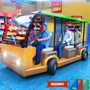 Shopping Mall City Taxi Rush Driver: Super Market APK
