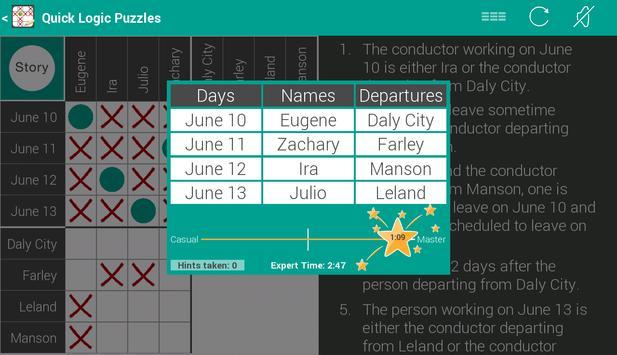 Quick Logic Puzzles capture d'écran 9