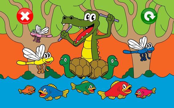 Jeux animaux pour les enfants Affiche
