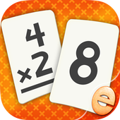 Multiplication Flash Cards Games Fun Math Practice أيقونة