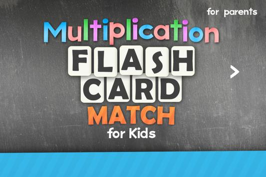Multiplication Flash Cards Games Fun Math Practice poster