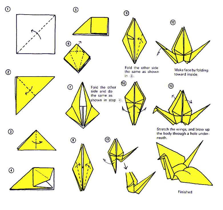 Origami Crane - How to Make the origami Crane - Slow Tutorial ... | 735x781