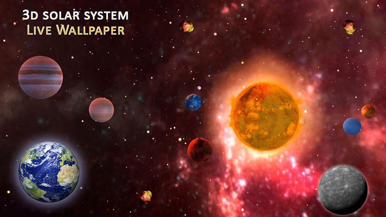 3D Solar System Live Wallpaper 3D Screensaver App for