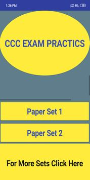 CCC EXAM PAPERSETS poster