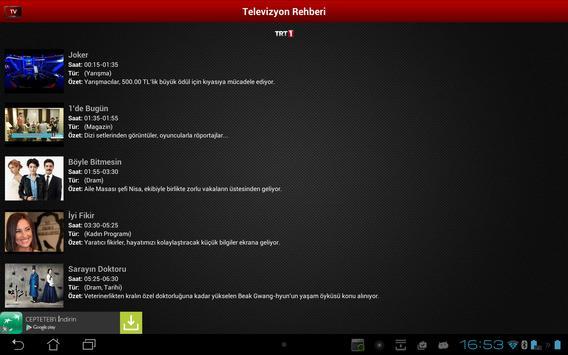 Mobil Canlı Tv Ekran Görüntüsü 11