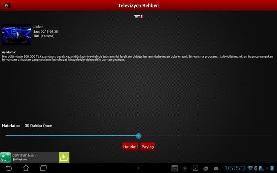 Mobil Canlı Tv Ekran Görüntüsü 12