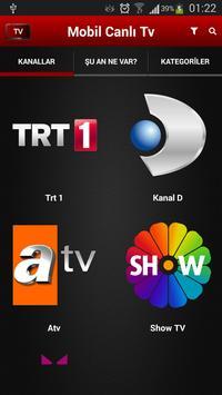 Mobil Canlı Tv Ekran Görüntüsü 1