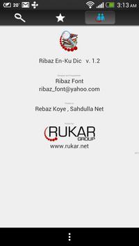 Ribaz English – Kurdish Dict. poster