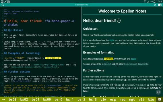Epsilon Notes captura de pantalla 7