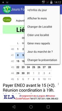 Bamileke's Local Calendars screenshot 1